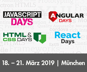 Die großen Trainingsevents für JavaScript, Angular, React, HTML & CSS 2019