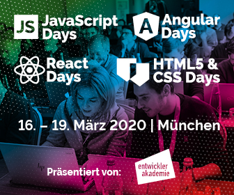 Die großen Trainingsevents für JavaScript, Angular, React, HTML & CSS